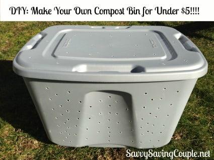 DIY compost bin tote