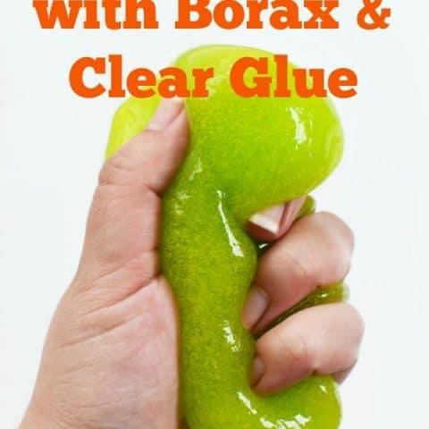 Green Borax Slime with Clear Glue