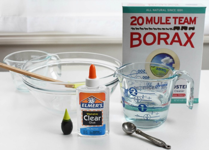 How to make slime with Borax and Clear Glue 1