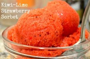 Strawberry-Kiwi Lime Sorbet Recipe