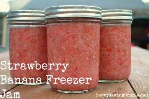 Strawberry Banana Freezer Jam