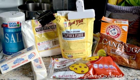 gluten free chocolate chip cookie recipe ingredients