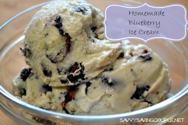 Homemade Blueberry Ice Cream in the Kitchen Aid