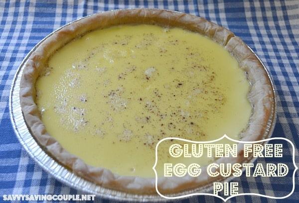 Gluten Free Egg Custard Pie Recipe