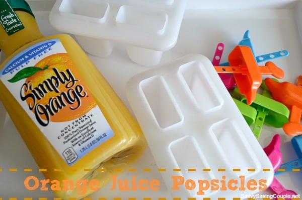 Orange Juice Popsicles