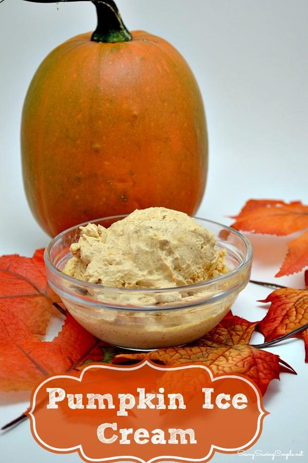 Creamy Pumpkin Ice Cream Recipe - Savvy Saving Couple