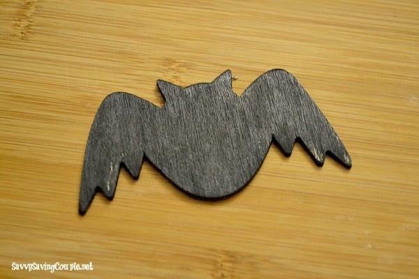 black painted bat