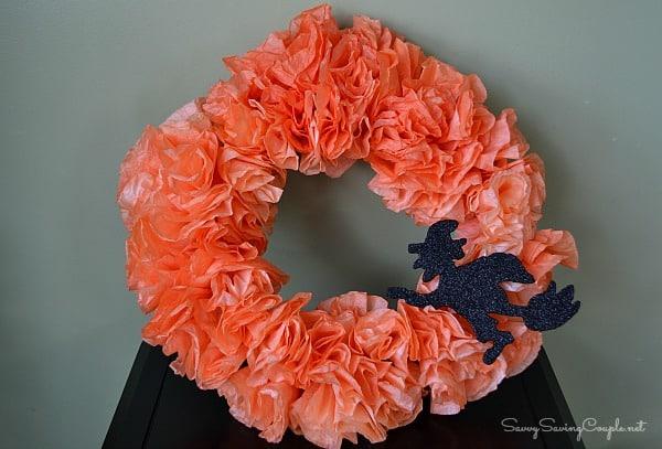 Halloween-Coffee-Filter-Wreath