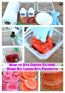 How to Dye Coffee Filters Using Rit Liquid Dye Products