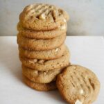 Flourless Peanut Butter Cookies stacked