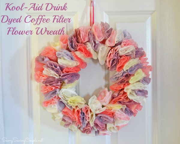 Coffee-filter-flower-wreath
