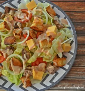 Cheeseburger Salad with Homemade Dressing