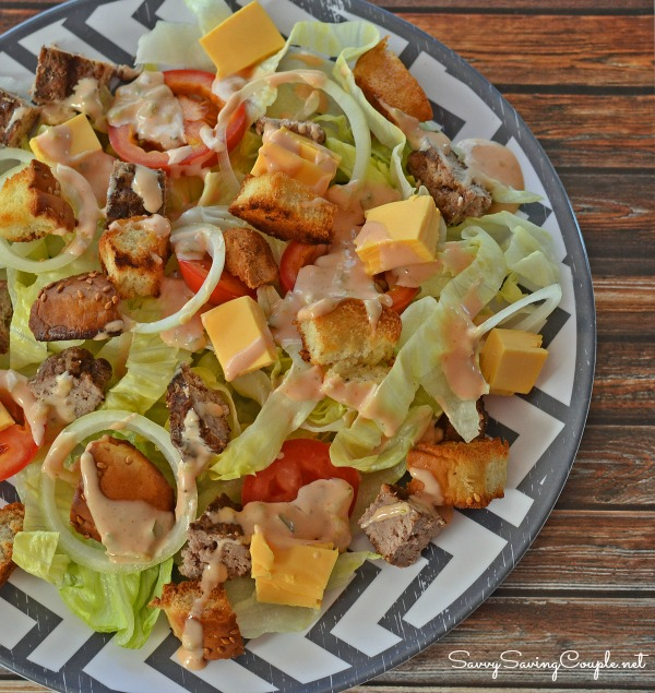 Cheeseburger Salad with Homemade Dressing & Good Cook Kitchen Draw ...