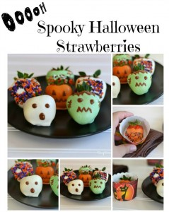 Chocolate Dipped Halloween Strawberries
