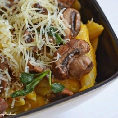 mushroom-butternut-squash-pasta