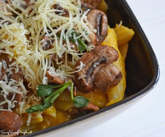 Perfect Fall Recipe: Butternut Squash Pasta with Sage Mushrooms #PastaFits #MC