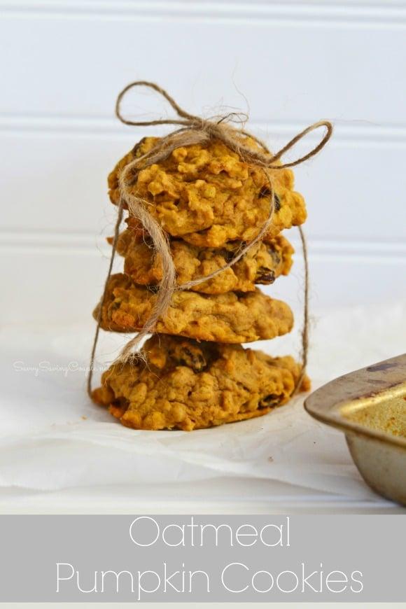 Soft Baked Pumpkin Oatmeal Cookies Recipe - Savvy Saving Couple