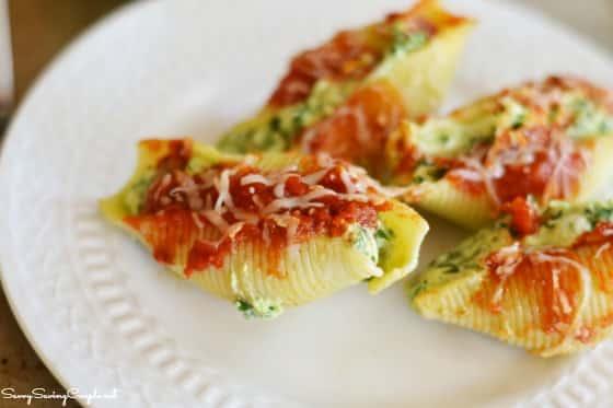 stuffed-spinach-shells