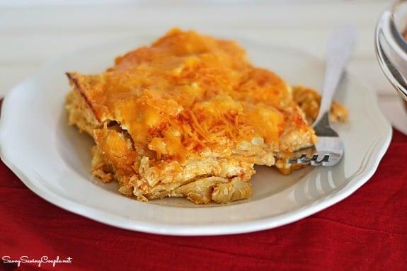 Buffalo-chicken-lasagna-on-plate