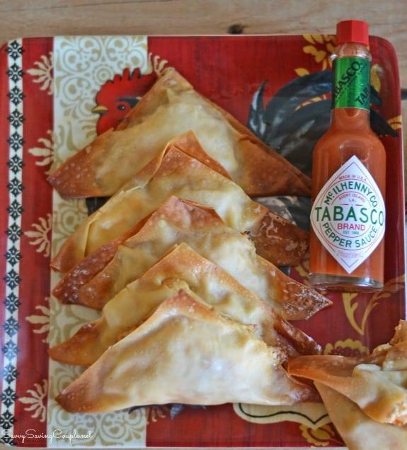 Buffalo Chicken Rangoons: A Delicious Party Recipe #SeasonedGreetings