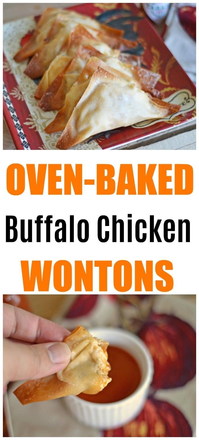 Baked Buffalo Chicken Rangoons