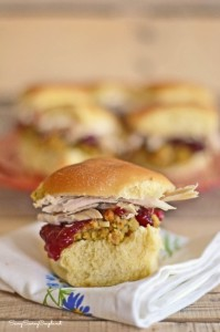 Thanksgiving Leftovers Meal Idea: All the Fixins' Mini Turkey Sliders #TasteTheSeason
