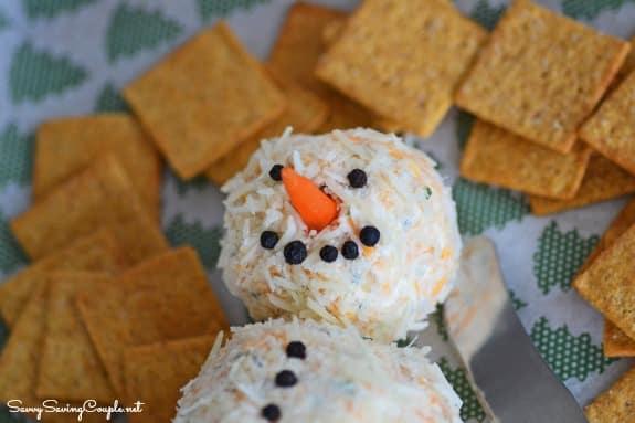 Snowman-Cheeseball