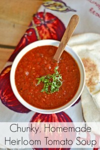 Chunky, Homemade Heirloom Tomato Soup Recipe