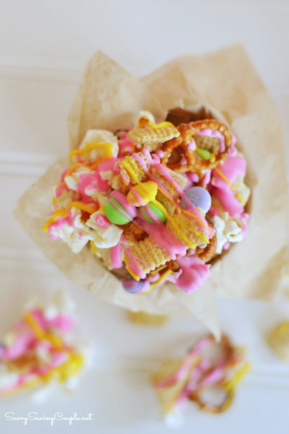 How to make candy coated Easter Chex Party Mix