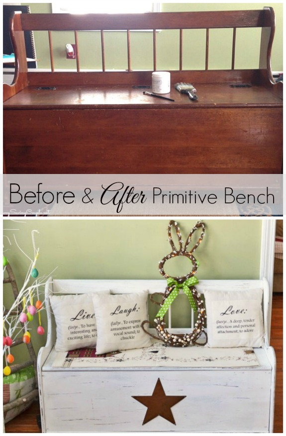 Old Made New: How to Upcycle an Old Vintage Bench into a New Primitive Treasure