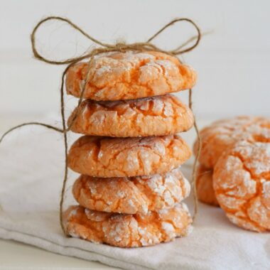 Orange-crinkle-cookie