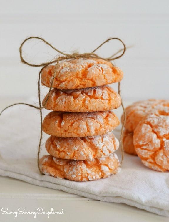 Orange-crinkle-cookie