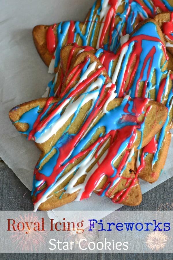 Patriotic Royal Icing Star Cookies