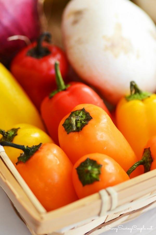 Rainbow-peppers