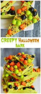 10 Minute Creepy Halloween Candy Bark