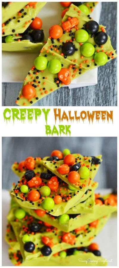 10 Minute Creepy Halloween Candy Bark