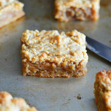 Peanut Butter Brownies on Baking Sheet