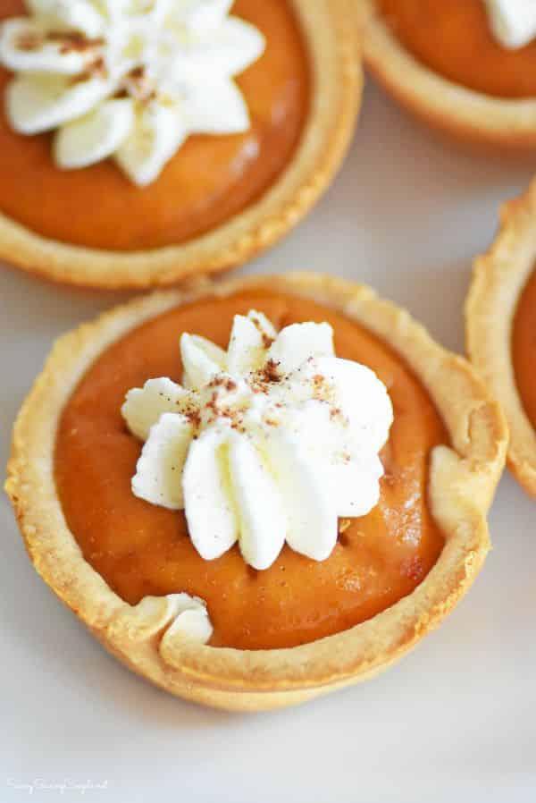 Mini Pumpkin Pies Made in a Muffin Tin - Savvy Saving Couple
