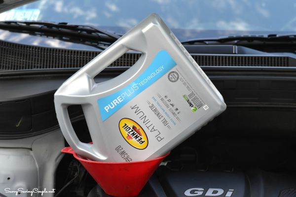 How to change your own motor oil savvy saving couple for Where to dispose of old motor oil