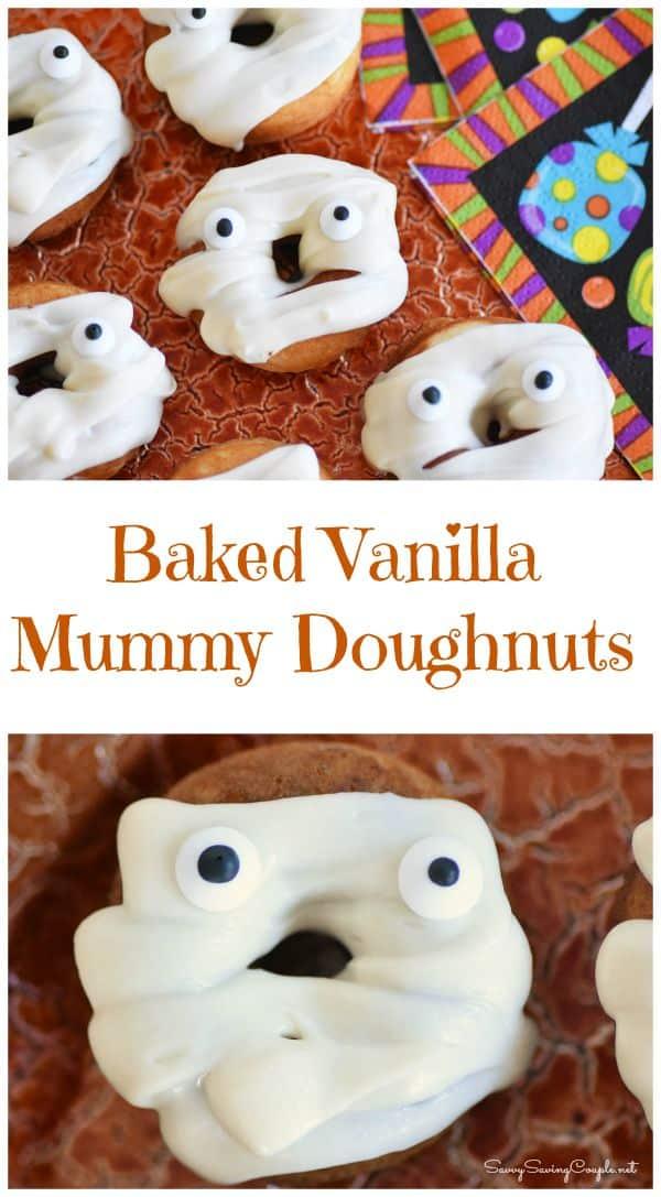 baked-vanilla-mummy-doughnuts