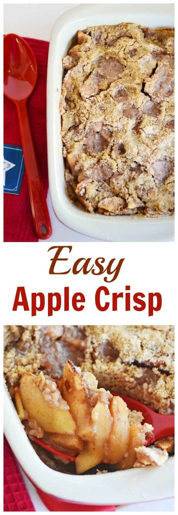 Easy Apple Crisp Recipe - Savvy Saving Couple