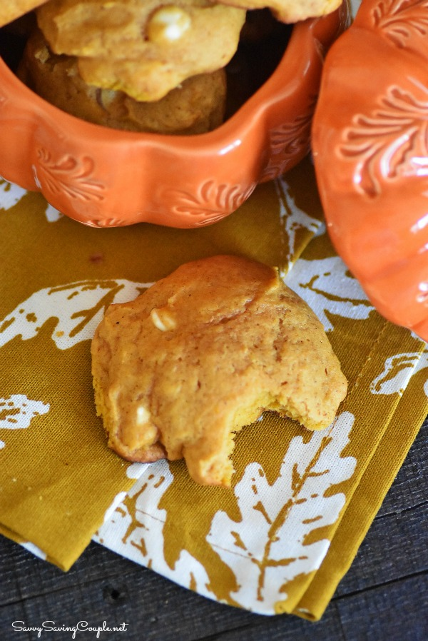 Pumpkin-White-chocolate-chip-cookies