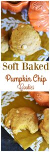 Soft Baked White Chocolate Chip Pumpkin Cookies