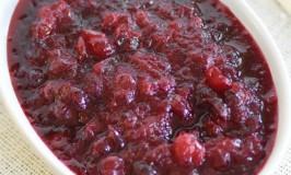 Spiced Zinfandel Cranberry Sauce
