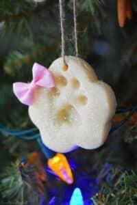 DIY Paw Print Salt Dough Ornaments