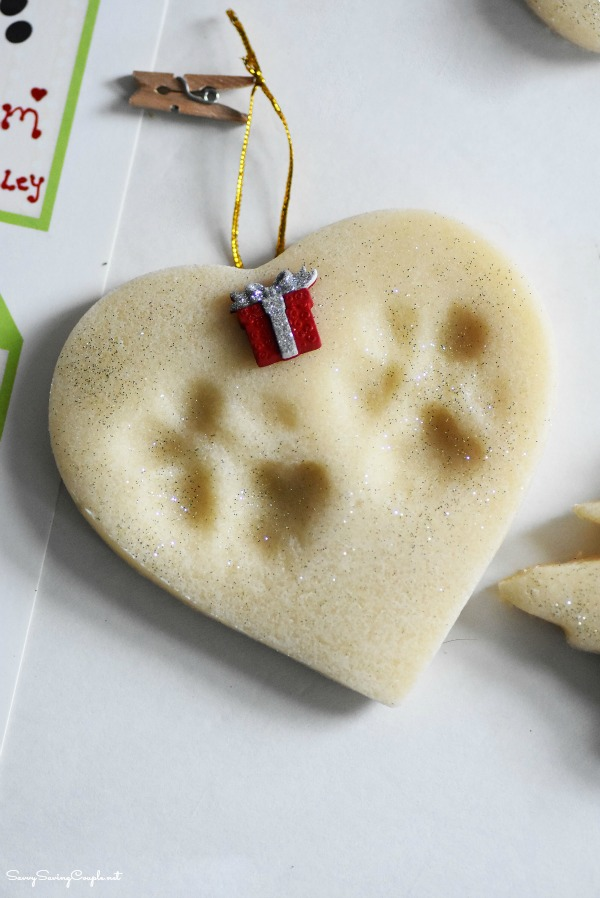 Pawprint-salt-dough-ornament
