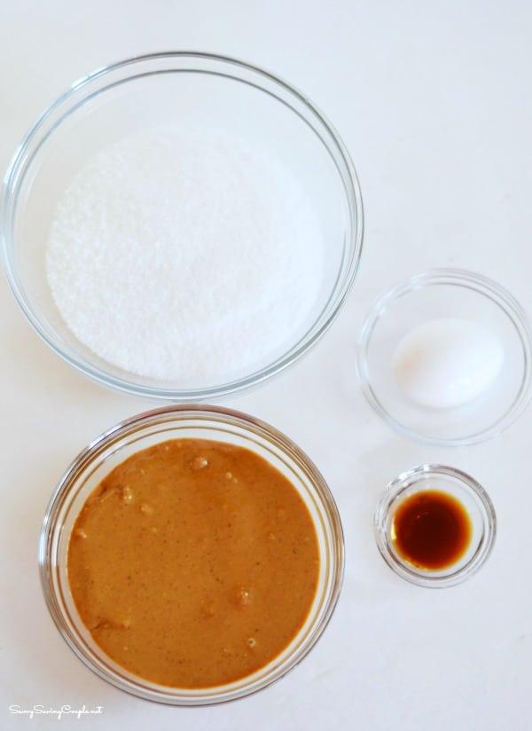 splenda cookie ingredients on a white table