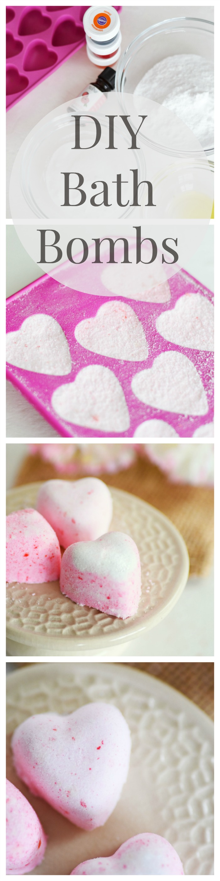 DIY bath bomb fizzies made with citric acid. These bath bombs can be custom tailored to any scents you enjoy! Great gift idea too!