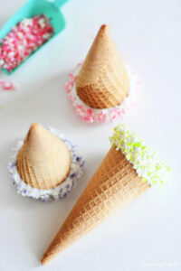 Candy Coated Ice Cream Cones