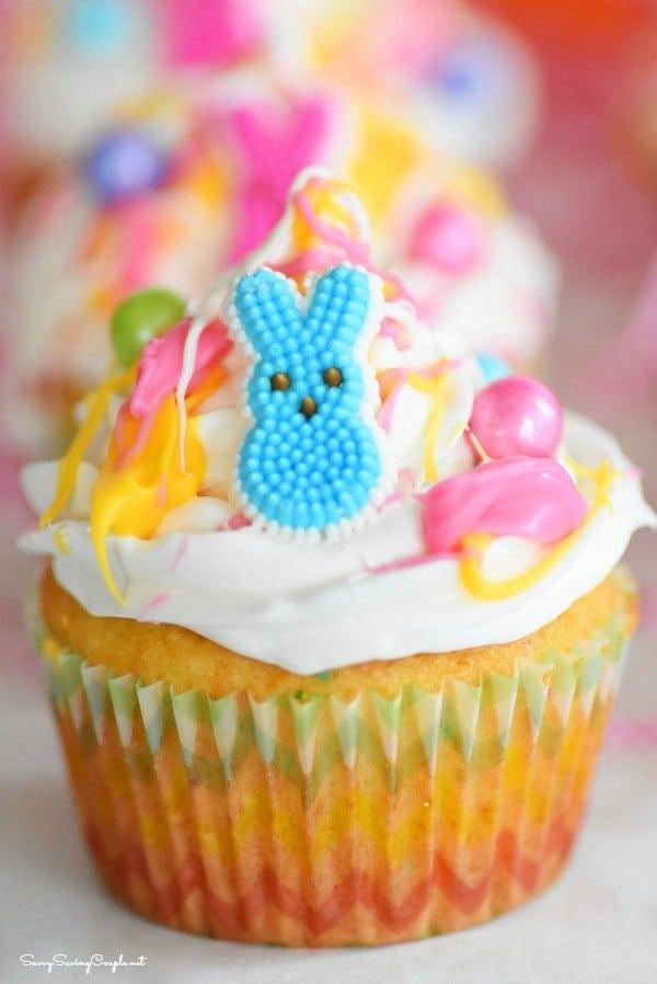 Bunny Candy Splash Cupcakes